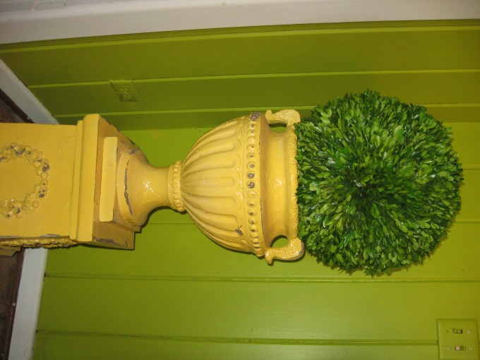 Preserved Boxwood On Decorative Jar For Home Accessories Ideas