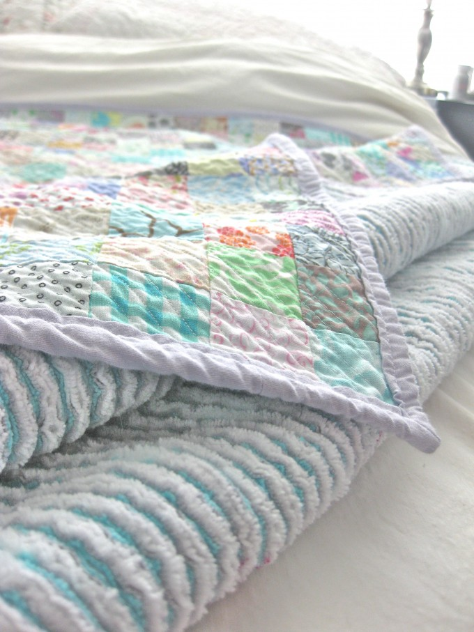 Queen Size Faux Chenille Blanket In Soft Color For Bedding Ideas