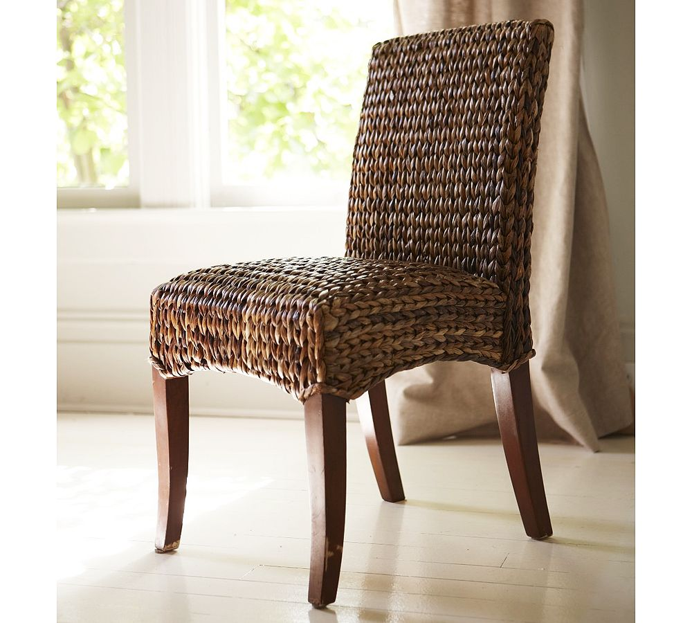 Recommended Seagrass Dining Chairs With Brown Wooden Legs For Dining Room Furniture Ideas