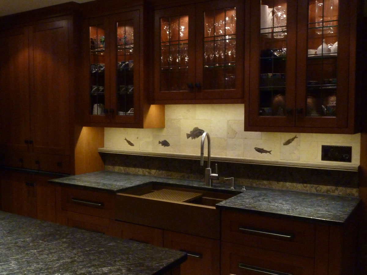 rectangle apron sink on brown wooden cabinet with silver sink on grey countertop for kitchen furniture ideas