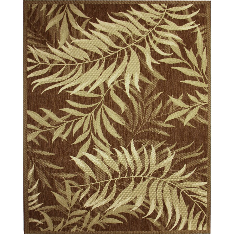 rectangle brown lowes rugs wit leaf design motif for floor decor ideas
