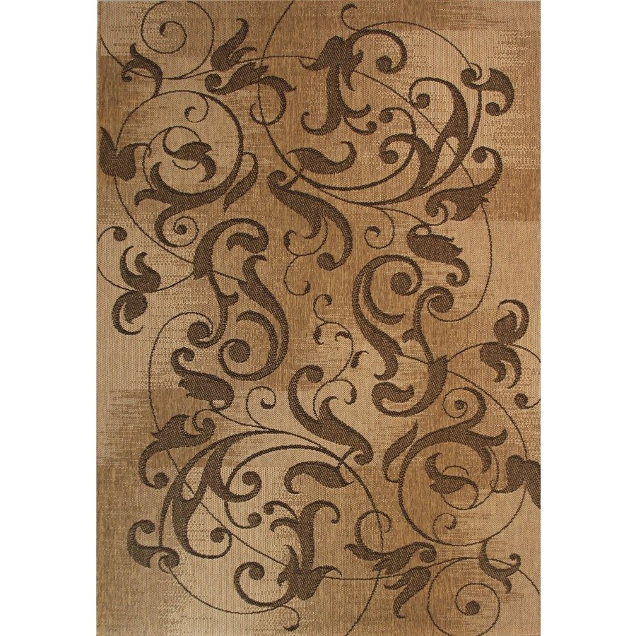 rectangle brown lowes rugs with floral motif for floor decor ideas