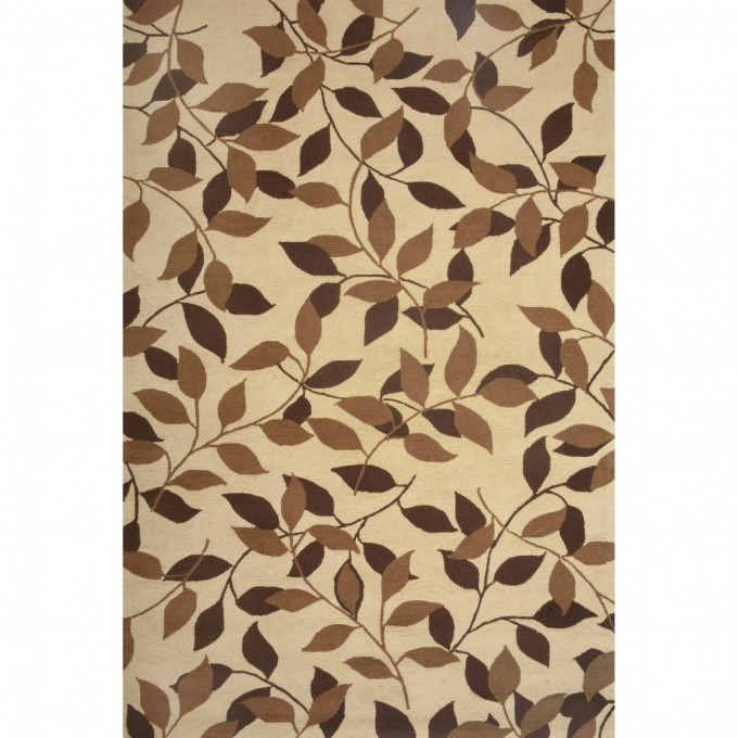 Rectangle Lowes Rugs In Cream With Wonderful Leaf Motive For Charming Floor Decor Ideas