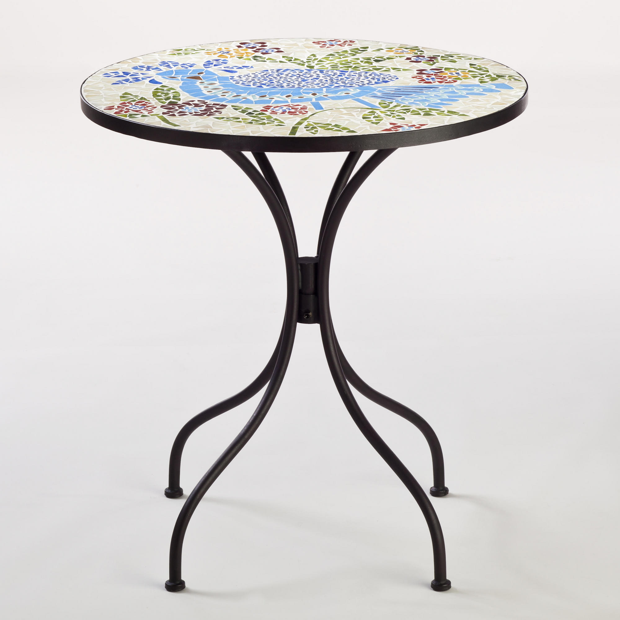 Rio Bird Cadiz Mosaic Bistro Table with black legs for home furniture ideas
