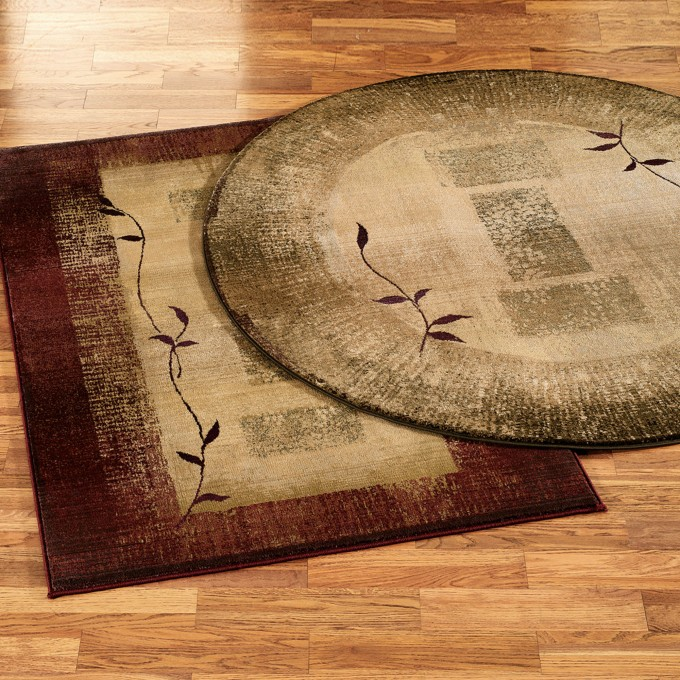 Round And Rectangle Lowes Rugs In Simple Motif Design Will Make Your Floor More Elegant