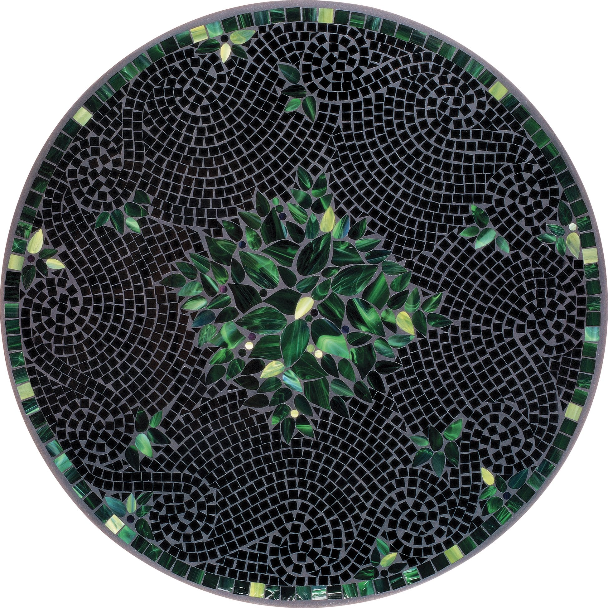 round black leaf mosaic bistro table for home furniture ideas