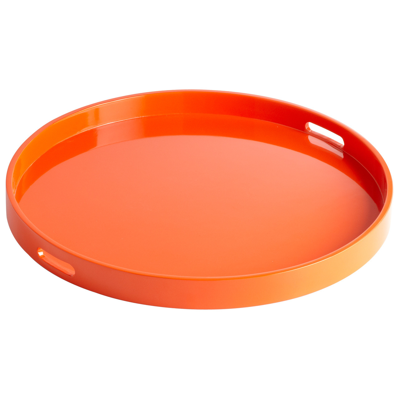 round large ottoman tray in orange for home furniture ideas