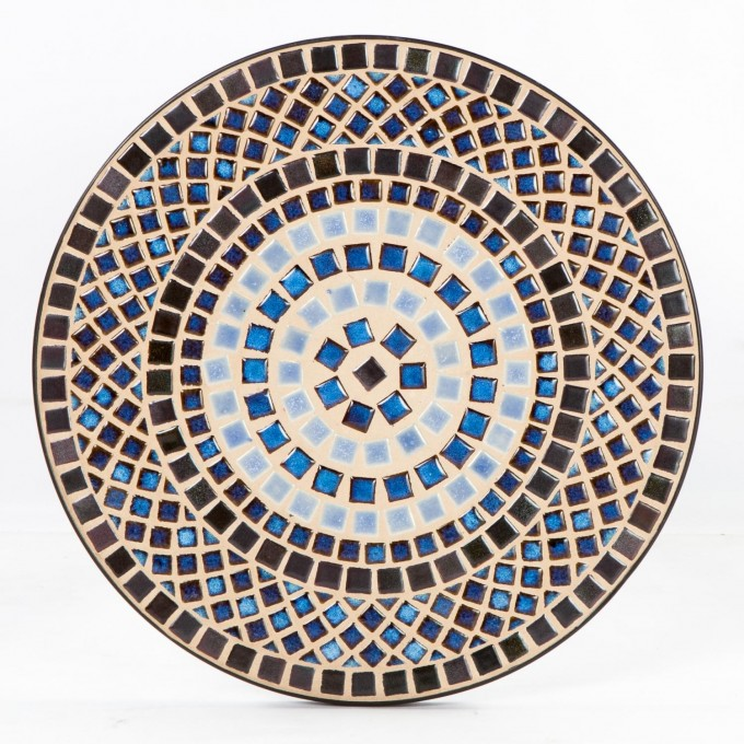 Round Mosaic Bistro Table In Wonderful Motif Design For Patio Furniture Ideas