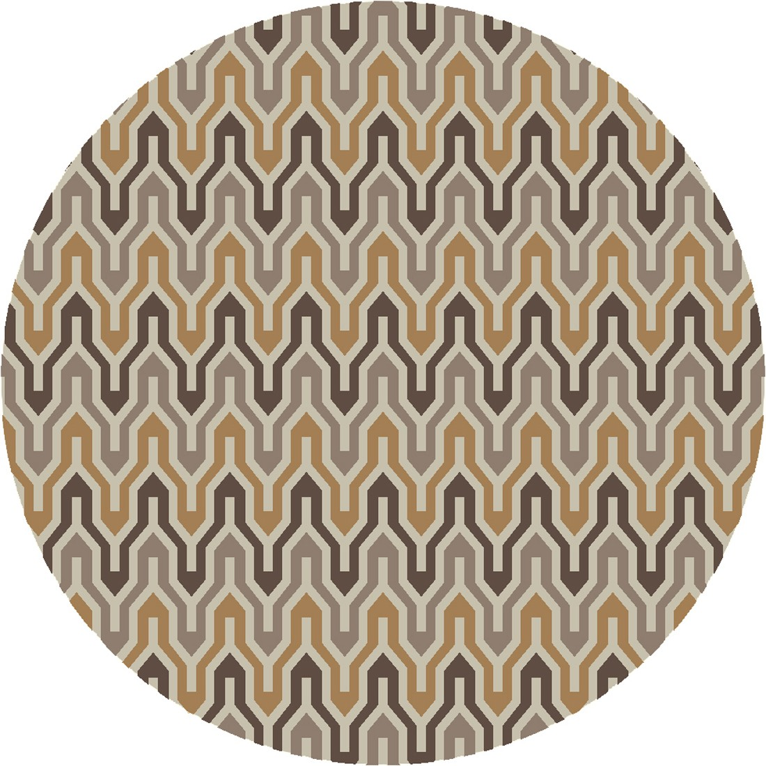 Round Surya Rugs With Mosaic Pattern For Floor Decor Ideas
