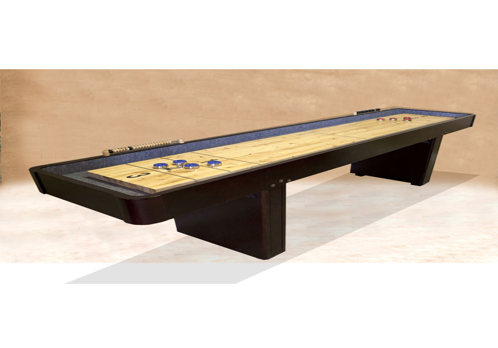 small Outdoor brown wood shuffleboard table for sale