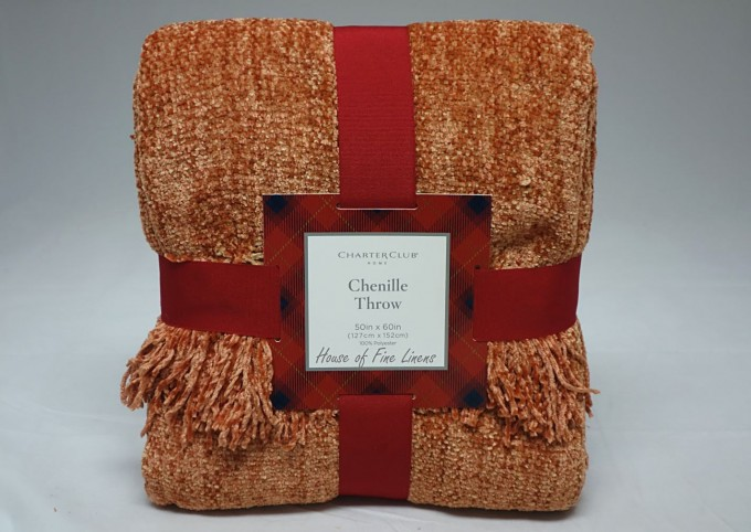 Solid Coral Chenille Blanket With Tassel For Blanket Ideas
