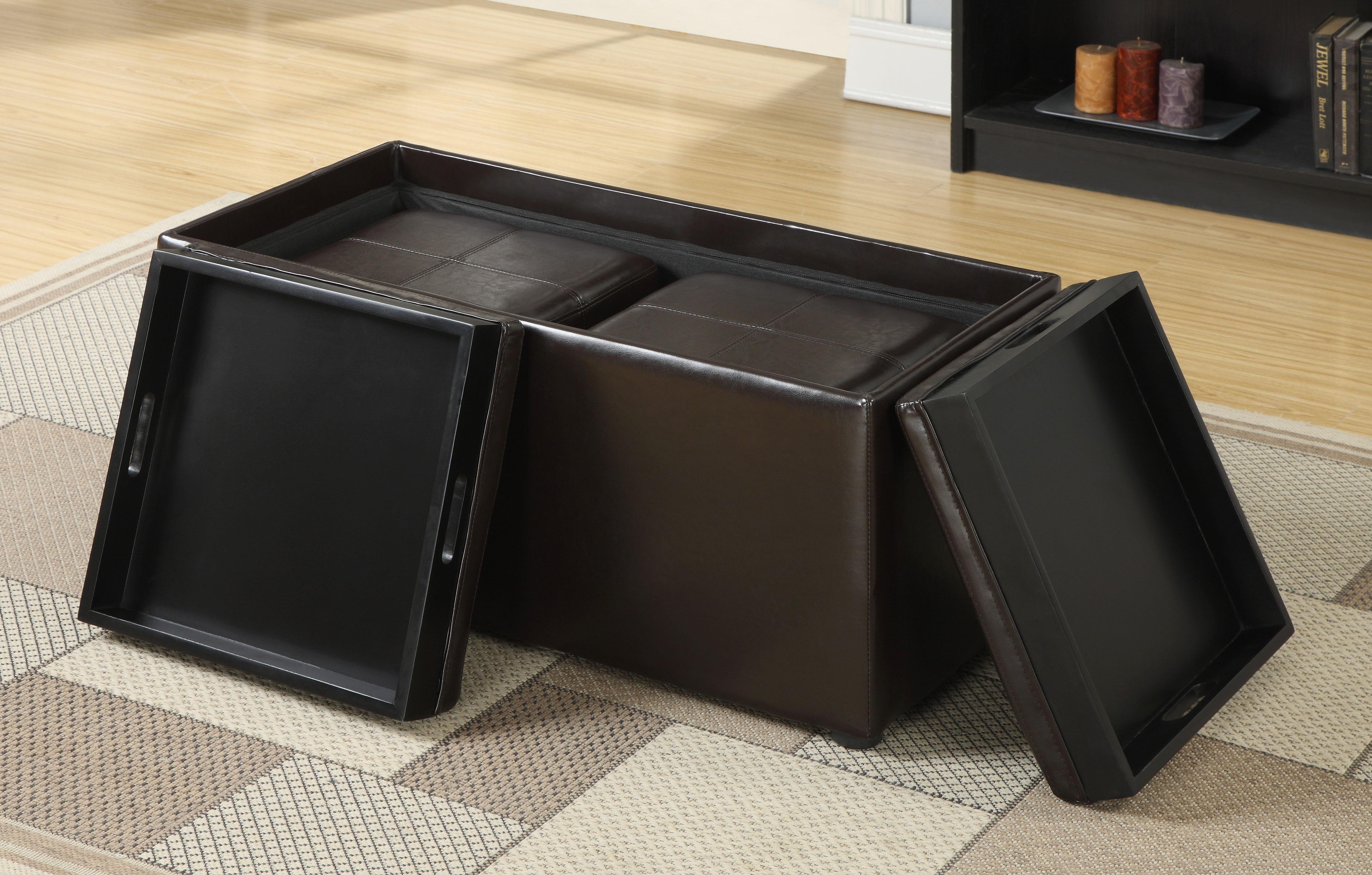 Superb Square Large Ottoman Tray In Black With Black Ottoman With Storage For  Inspiring Home Furniture Ideas