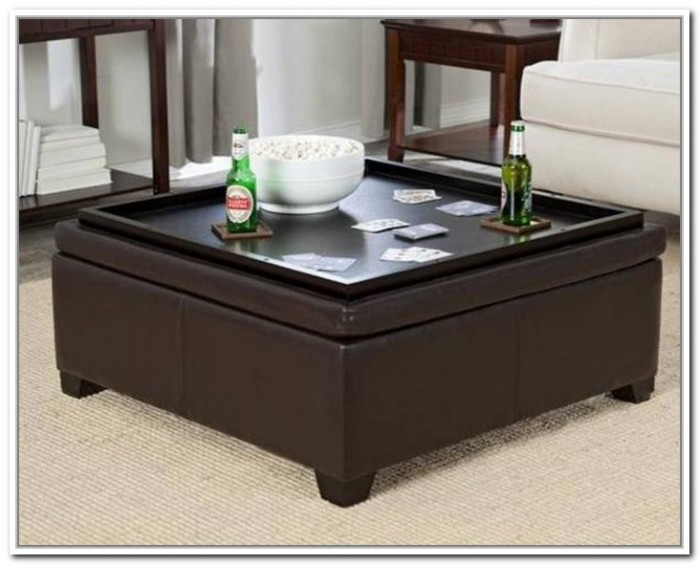 square large ottoman tray in brown for home furniture ideas