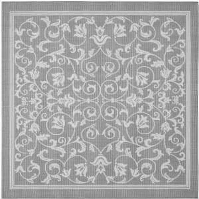 Square Lowes Rugs In Grey With Floral Pattern For Floor Decor Ideas