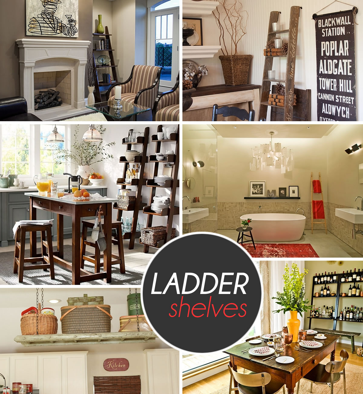 Stepping It Up In Style 50 ladder bookshelf And Display Ideas