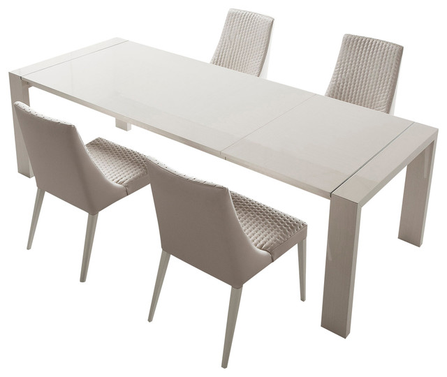 stunning expandable dining table set in white for dining room furniture ideas