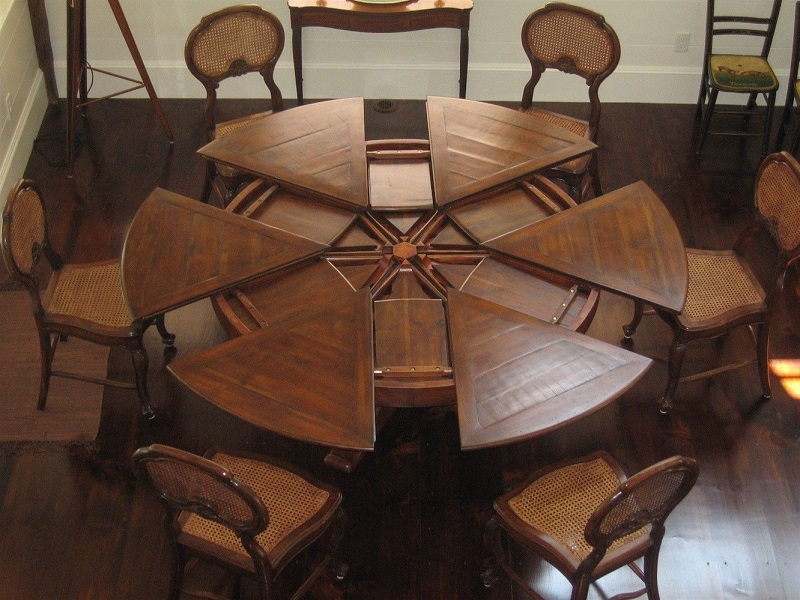 stunning wooden expandable dining table set in modern design for dining room furniture ideas