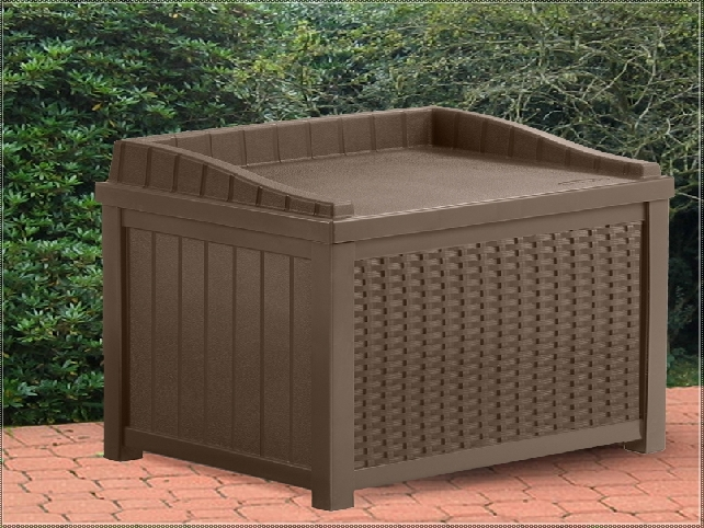 Suncast Deck Box Ideas In Brown With Seat For Patio Furniture Ideas