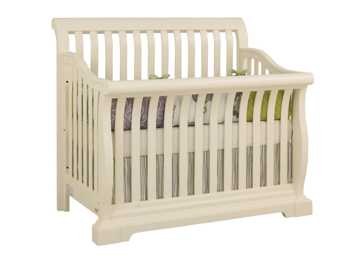 Sussex Lifetime Convertible Crib In Vanilla By Munire Crib