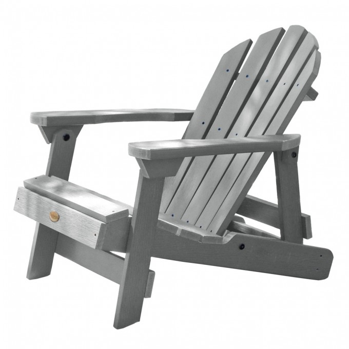 Teak Adirondack Chairs In Grey For Outdoor Furniture Ideas