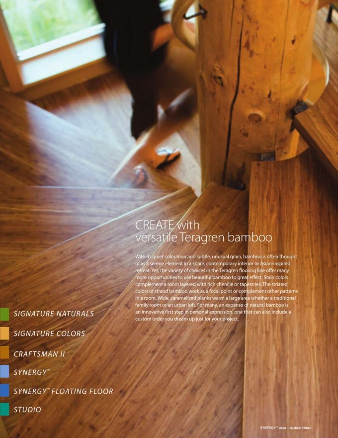 Teragren Bamboo Flooring For Stair Step Ideas