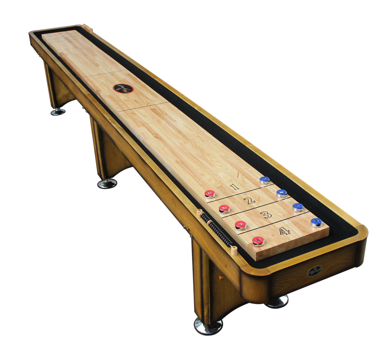 The Georgetown wooden traditional game shuffleboard table for sale