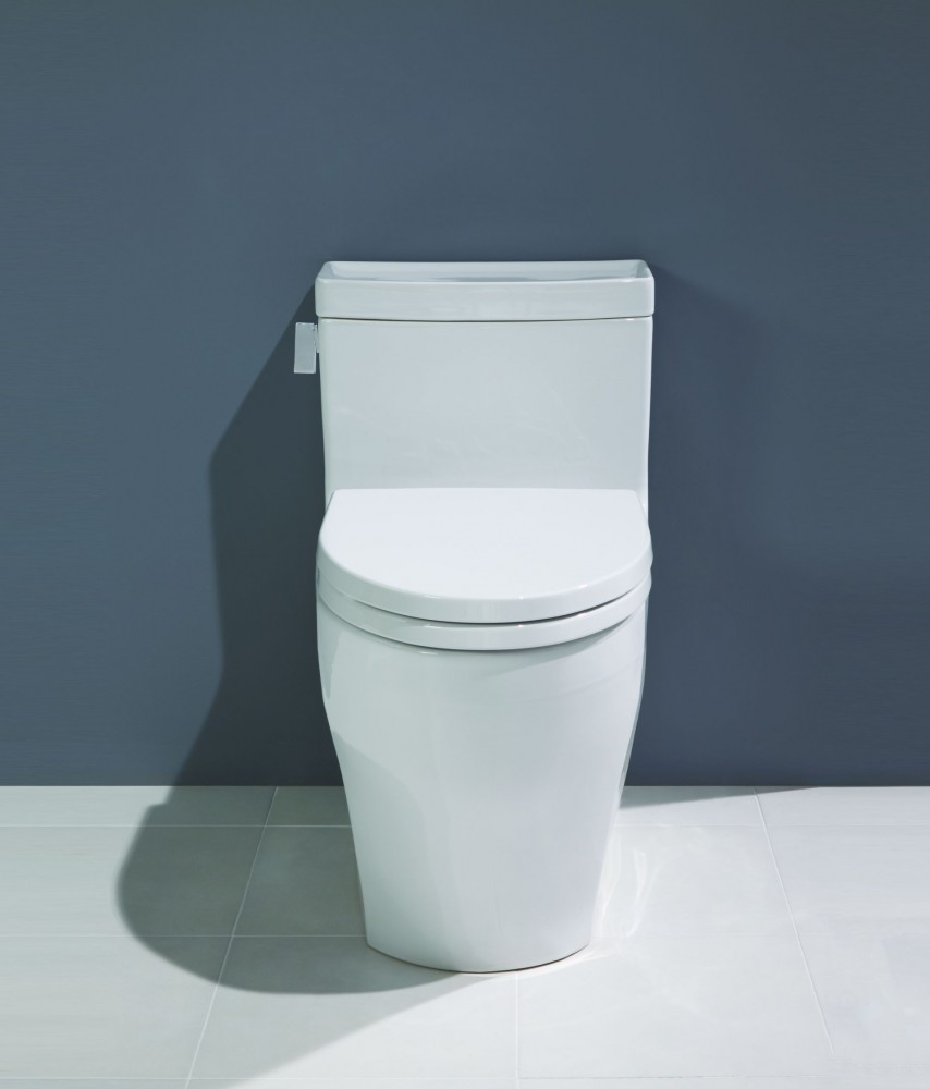 toto Toilets before the navy wall matched with white ceramic floor for toilet decor ideas