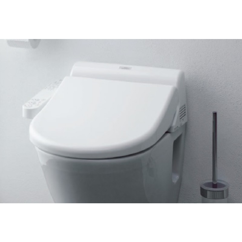 toto toilets on white wall for toilet decor ideas
