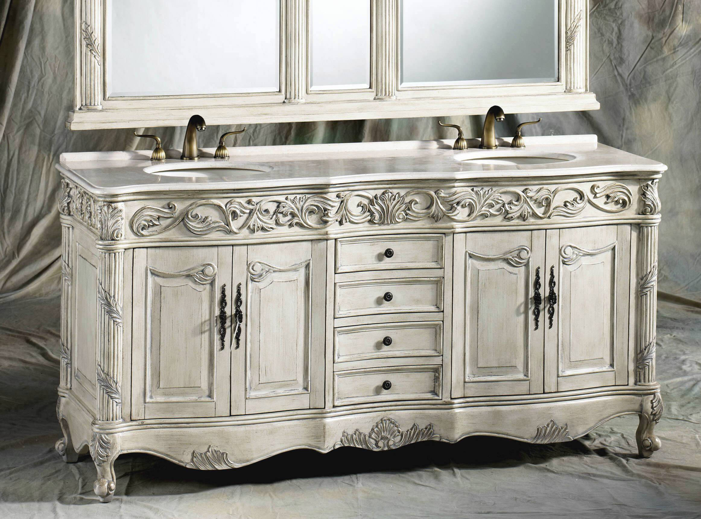 unique bathroom vanities with tops and double faucets and sinks for bathroom decor ideas