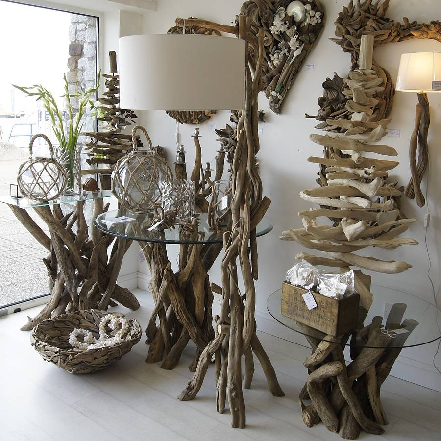 unique driftwood floor lamp for decorative lighting ideas