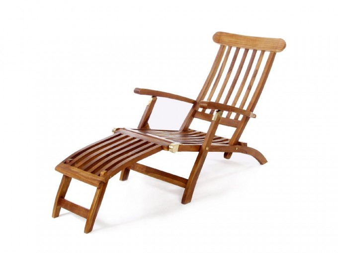 Unique Teak Adirondack Chairs In Brown With Ottoman For Outdoor Furniture Ideas