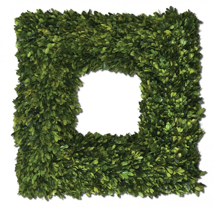 Uttermost Preserved Boxwood Square Wreath 4 5 X 22 X For Home Accessories Ideas