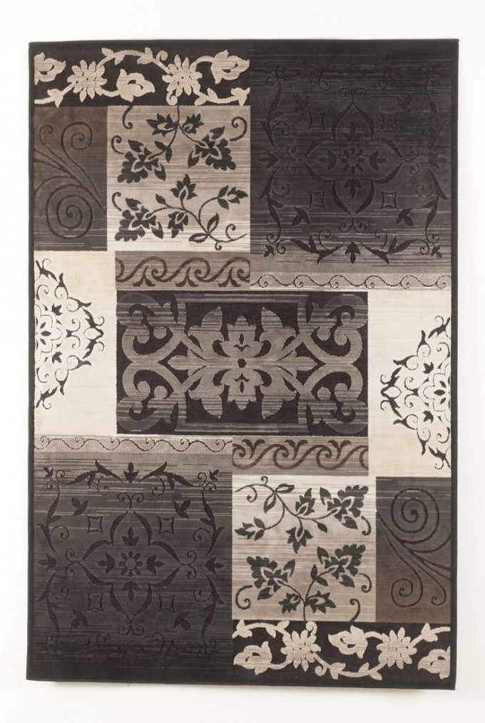 Wexford Black 5x7 Area Rugs With Floral Pattern For Floor Decor Ideas