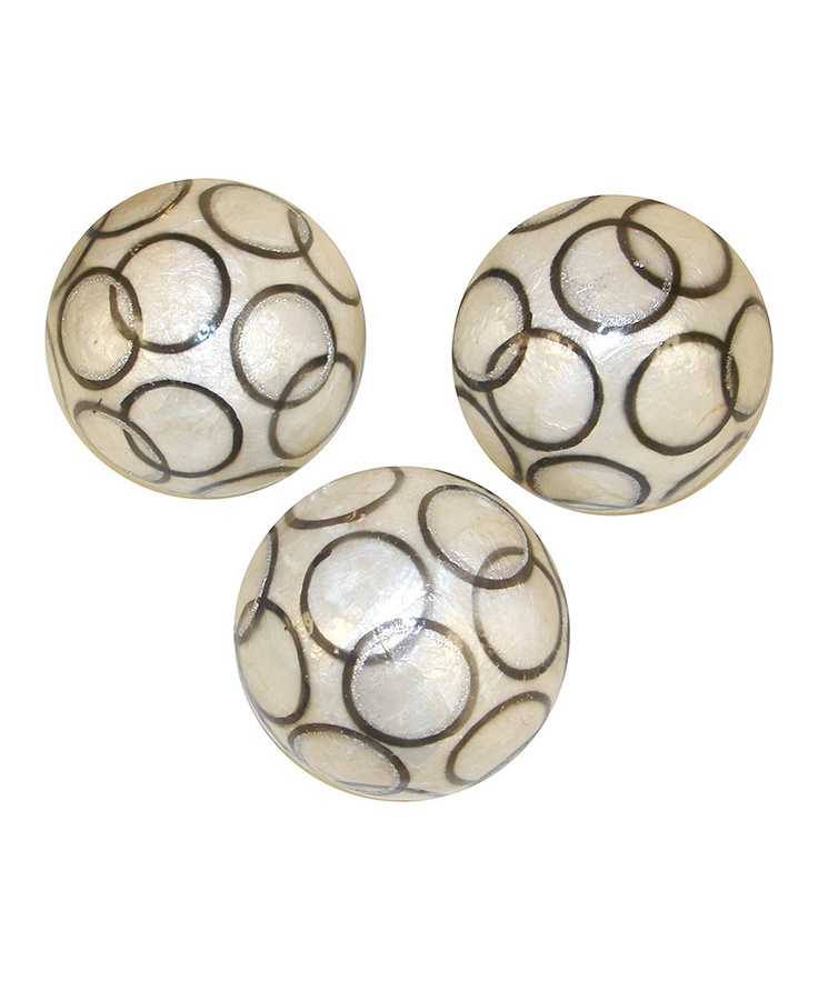 wheat decorative orbs with black circle for table accessories ideas