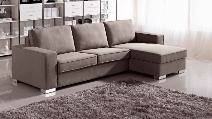 Wheat Sectional Sleeper Sofa On Ceramics Floor With Wheat Carpet For Living Room Decor Ideas