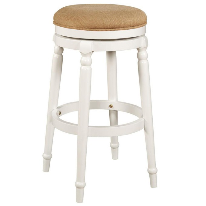 White 24 Inch Counter Stools With Brown Seat For Home Furniture Ideas