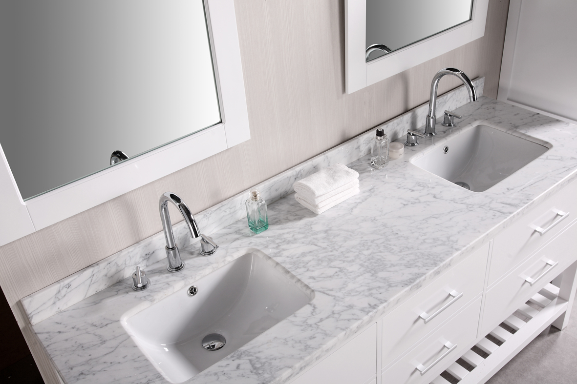 white bathroom vanities with tops with double sinks and faucets before the  wheat wall plus double. Bathroom  Inspiring Bathroom Vanities With Tops For Bathroom