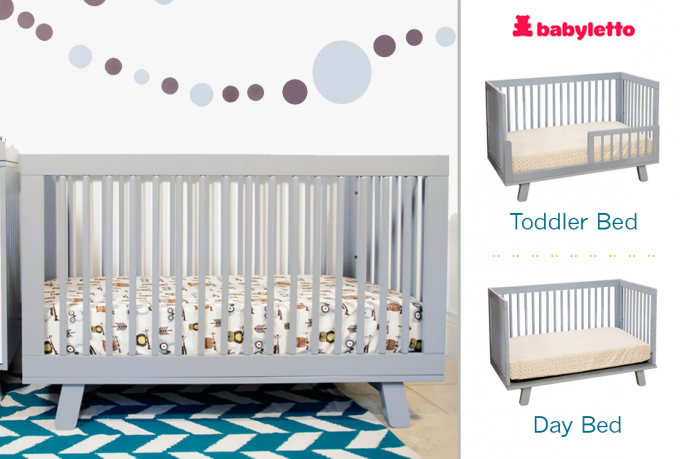 White Crib By Babyletto With Character Bedding For Baby Room Furniture