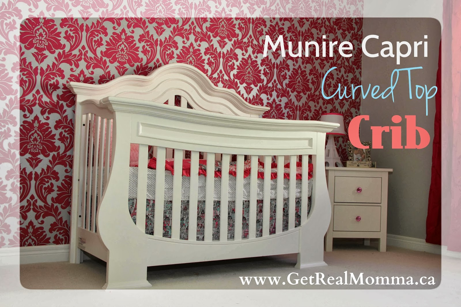White Crib With Curved Top By Munire Crib For Inspiring Nursery Furniture Ideas
