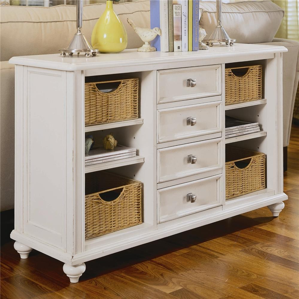 White Dresser With Drawers And Shelves By Hammary Furniture For Home Furniture Ideas