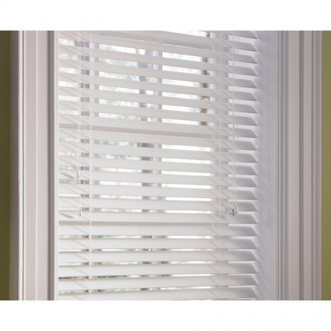 White Window With Levolor Blinds For Home Decor Ideas