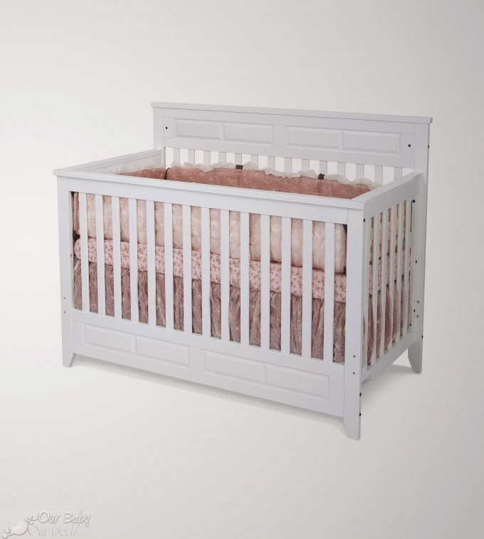 White Wooden Crib By Munire Crib For Nursery Furniture Ideas