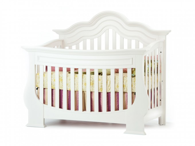 White Wooden Crib By Munire Crib With Yellow Bedding For Nursery Furniture Ideas