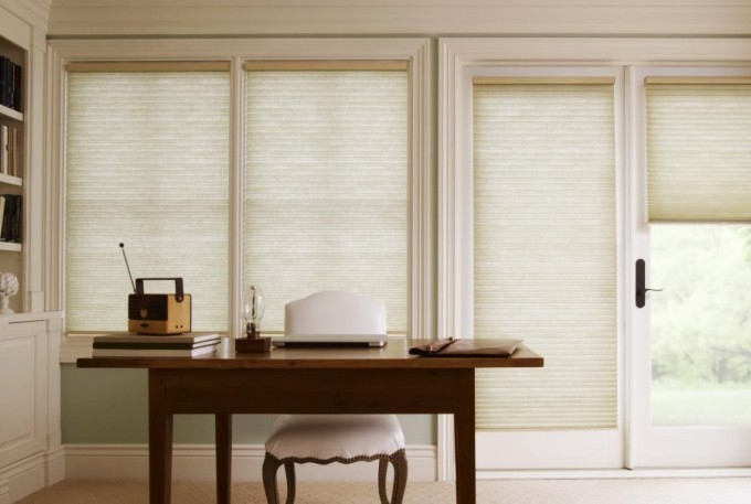 Window And Door With Trim Board And Bali Blinds On Olive Wall For Home Interior Design Ideas