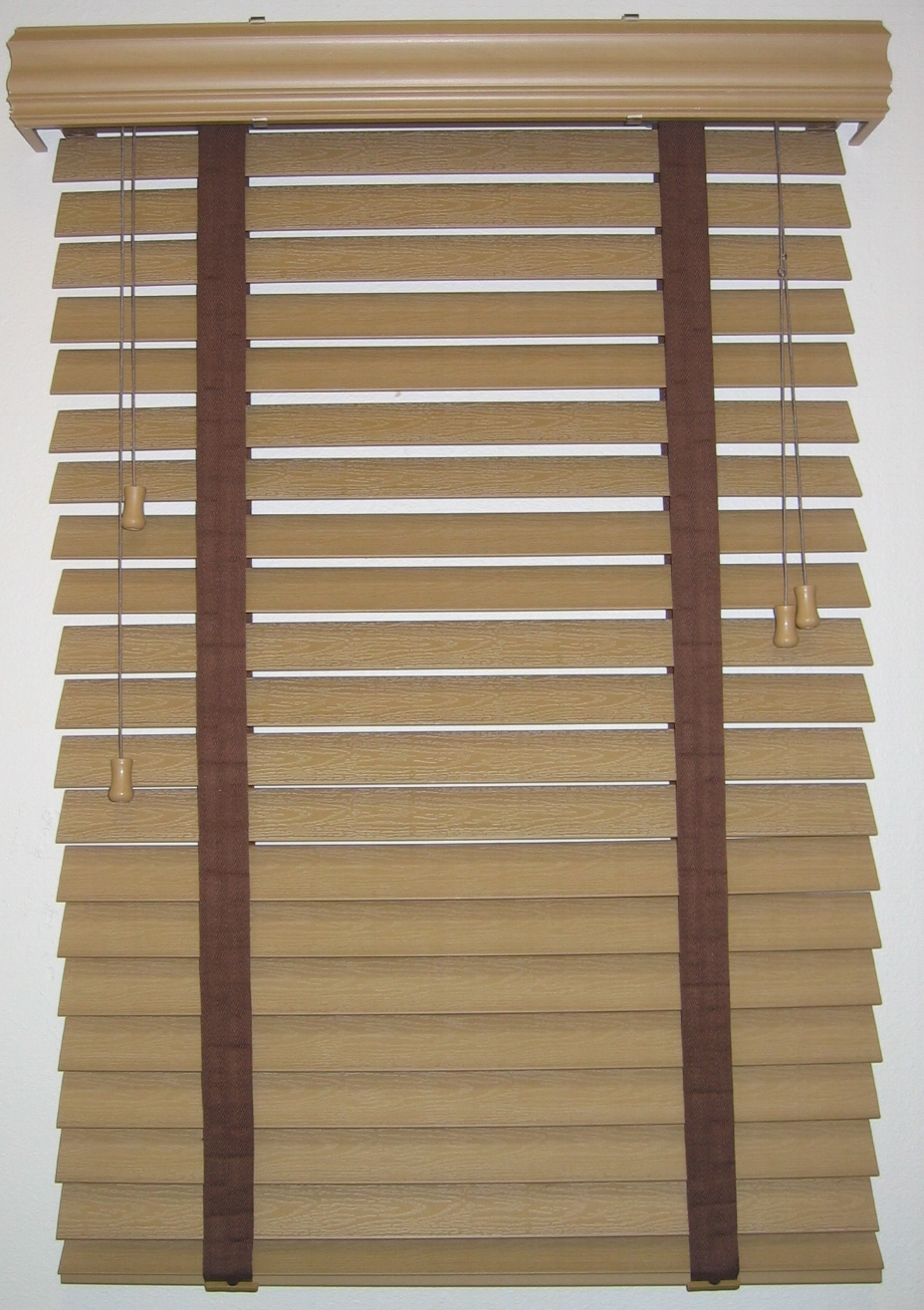 window with tan bali blinds on white wall for home interior design ideas