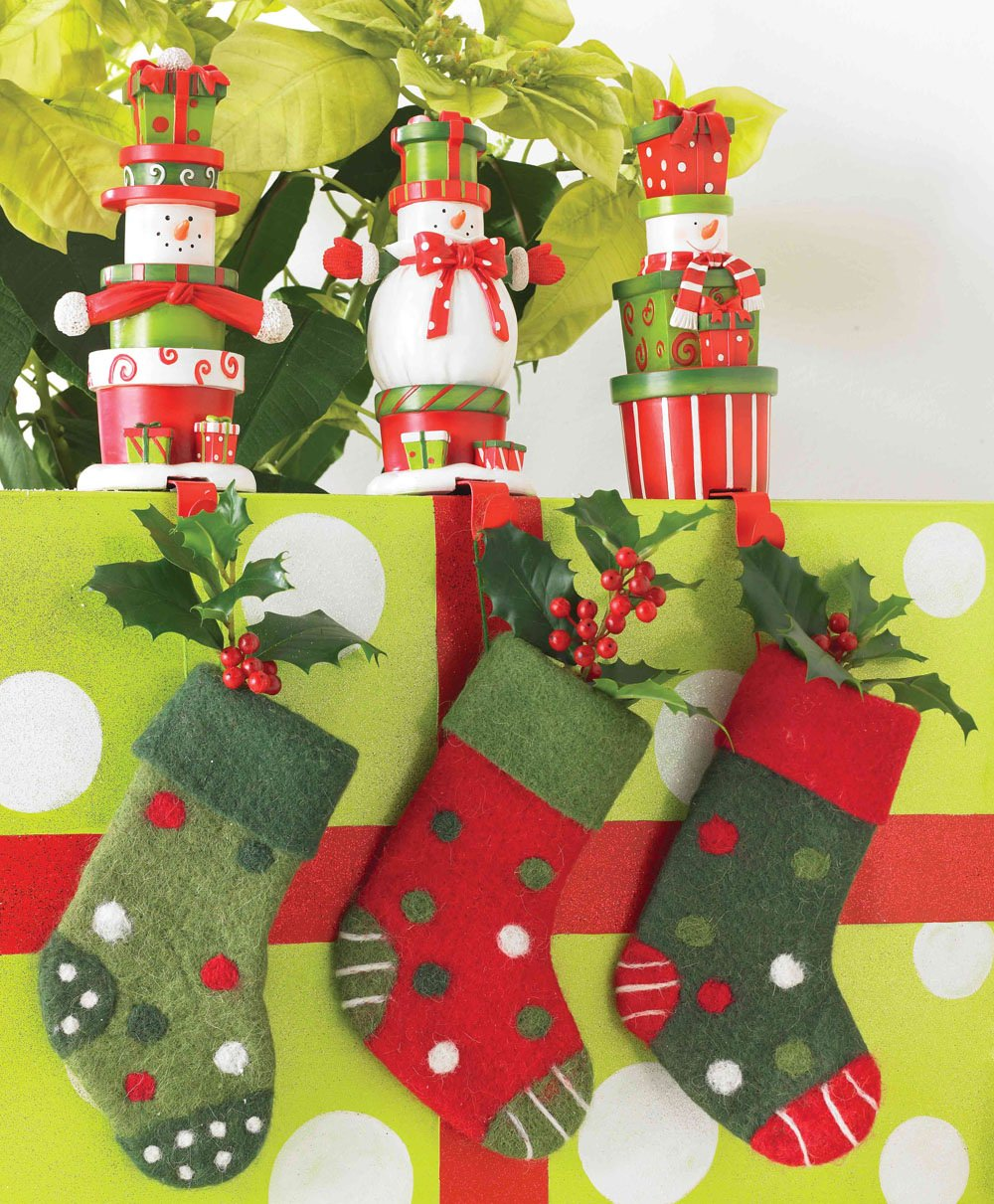 wonderful Snowman christmas stocking hanger with cherry ideas