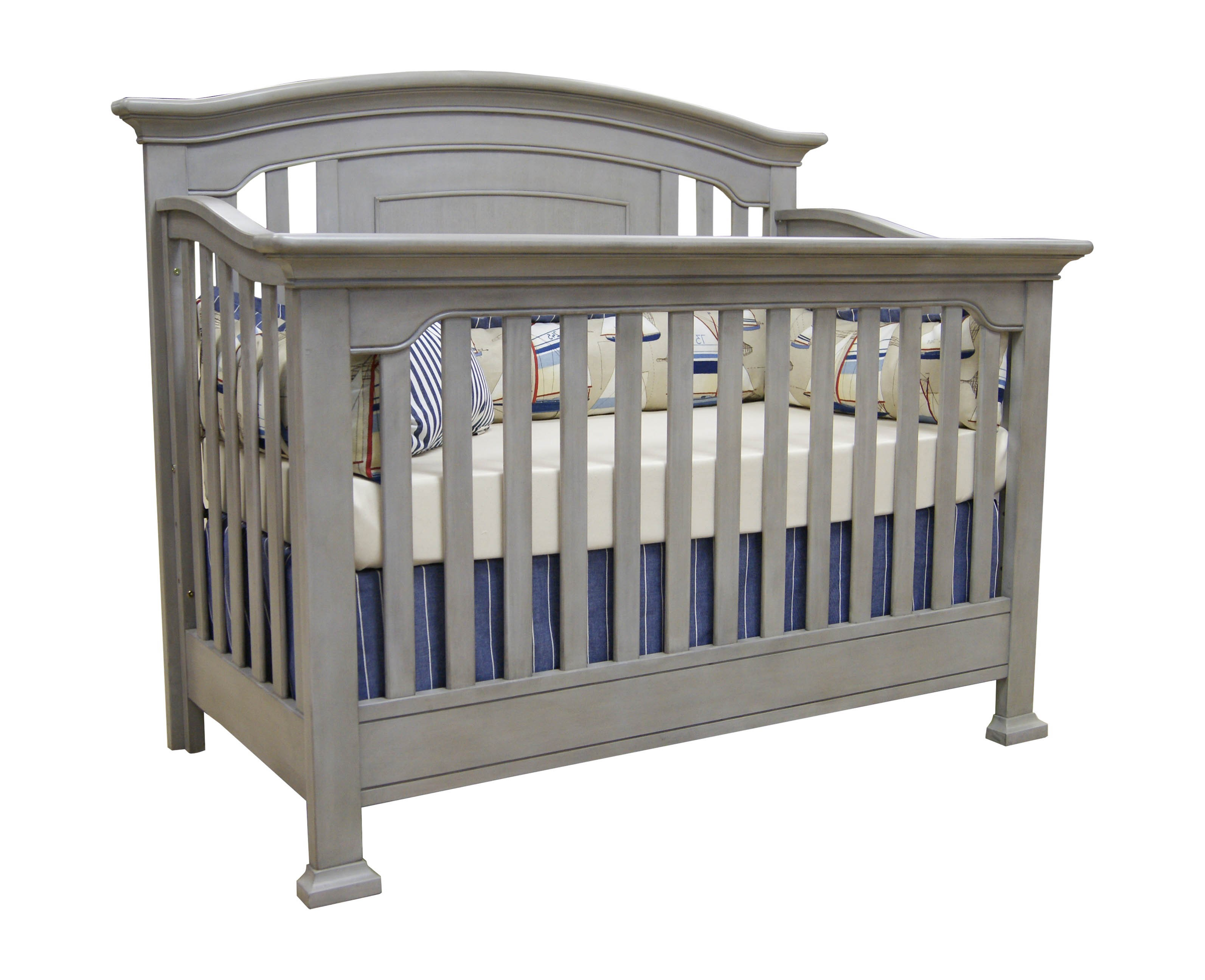 Wooden Crib In Dark Grey By Munire Crib For Nursery Furniture Ideas