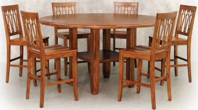 Wooden Expandable Dining Table Set With Round Table For Dining Room Furniture Ideas