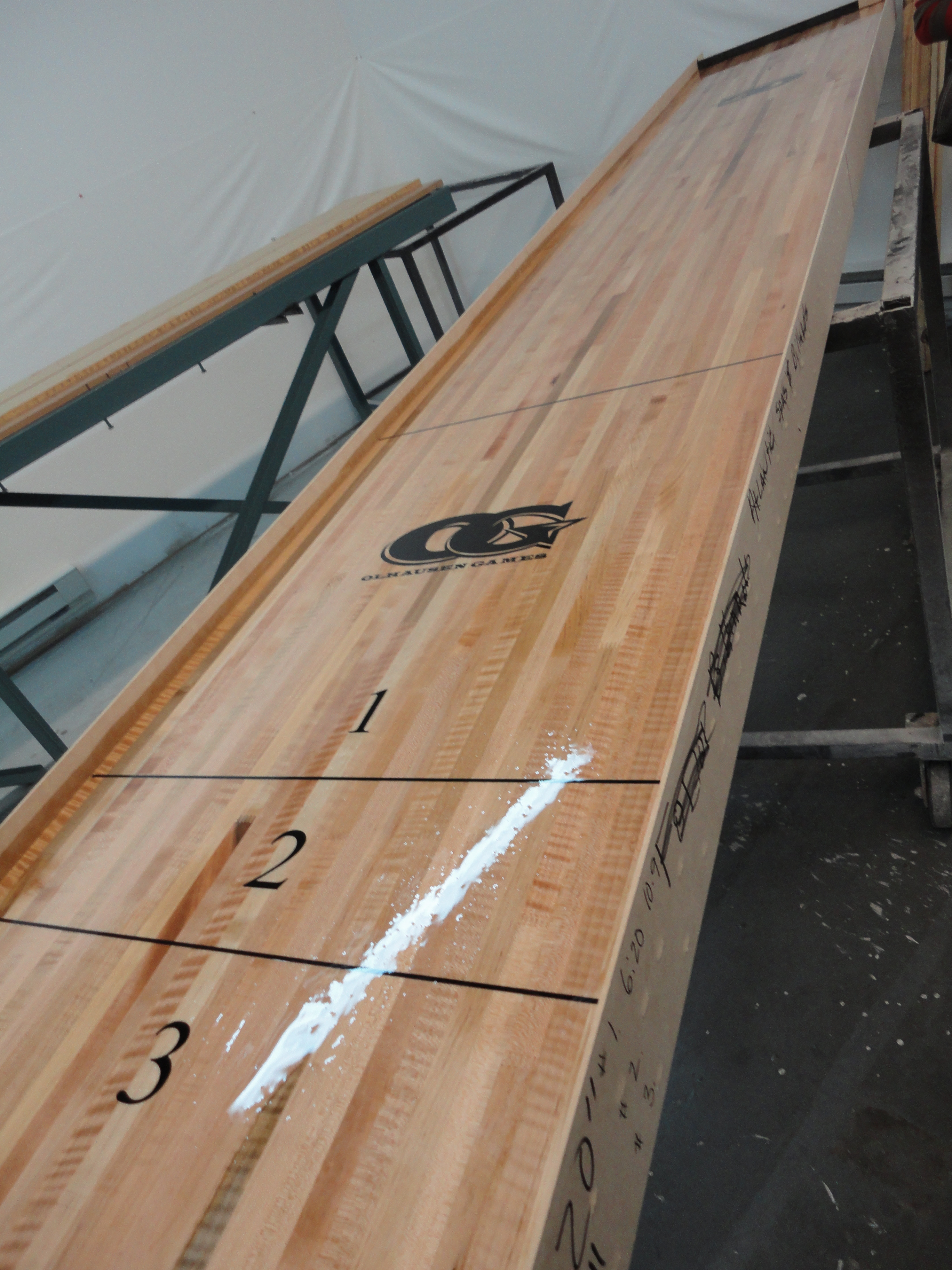 wooden shuffleboard table for sale