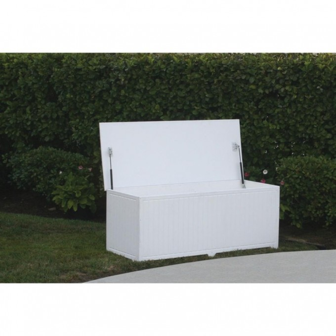 Wooden Suncast Deck Box Ideas In Solid White For Patio Furniture Ideas